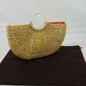 Kate Spade Lemon Wedge Weaved Straw Purse + Bag